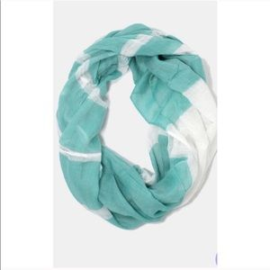 Mint Striped Infinity Scarf